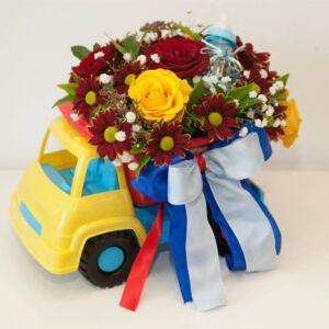 Παιδικό αυτοκινητάκι με λουλούδια