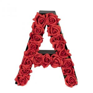 A FLOWER BOX WITH FOAM ROSES