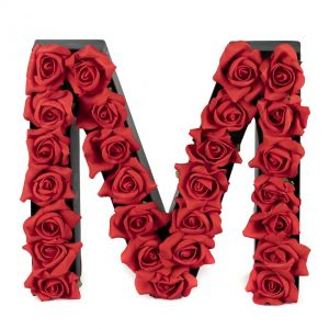 M FLOWER BOX WITH FOAM ROSES