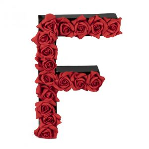 F FLOWER BOX WITH FOAM ROSES