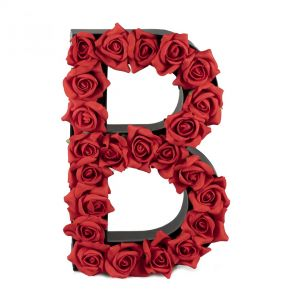 B FLOWER BOX WITH FOAM ROSES