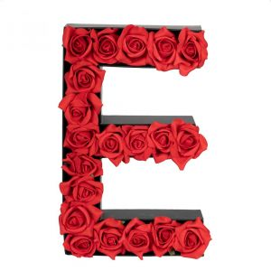 E FLOWER BOX WITH FOAM ROSES